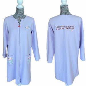 Mary Engelbreit Dream Wear Collection Zip Up Robe